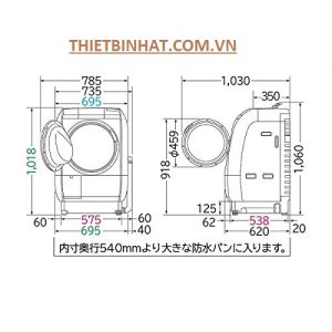 Thông số máy giặt HItachi BD-V9800l