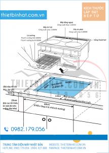 Hướng dẫn lắp đặt Bếp từ Hitachi HT-K60S
