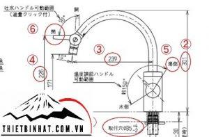 Bản vẽ vòi tkf51pn toto