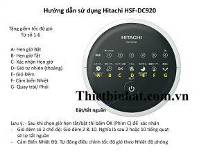 huong dan su dung quat hitachi HSF-DC920